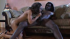Naked babe with huge boobies Misty Stone is unpredictable as usual