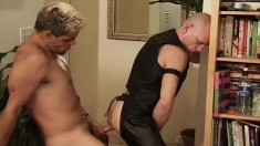 Kinky gay stud Babaji gets his anal hole drilled rough by Mean Dean