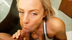 Busty MILF Facialized After Blowjob Handjob